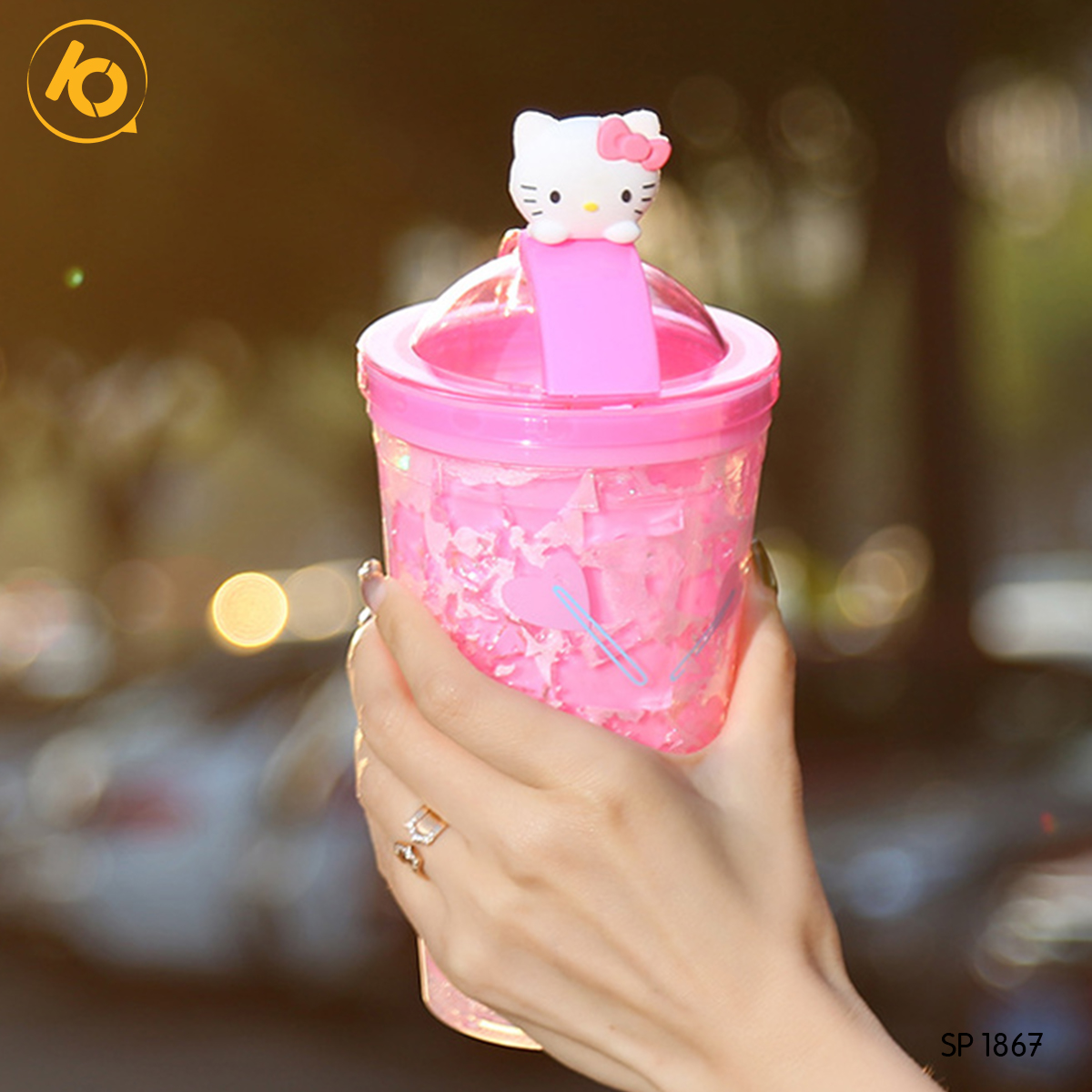 Ly nhựa 2 lớp 550ml Cartoon 8835